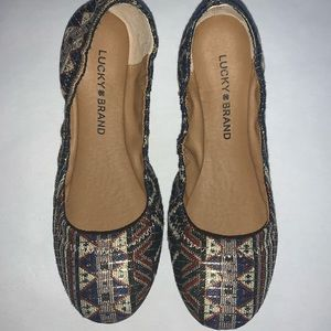 Lucky Brand Women's Emmie Flat Picante Textile